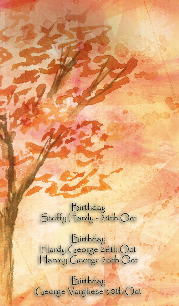 October Birthday Ecards ~ Lappakkaran s family strictly private for members of