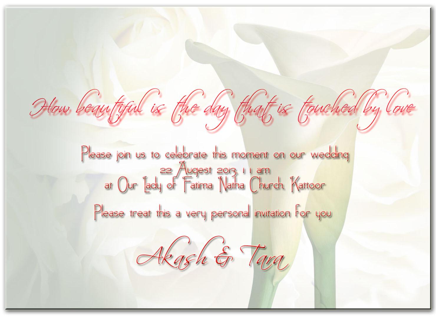 Greetings lappakkarans family blog akash tara wedding kristyandbryce Image collections